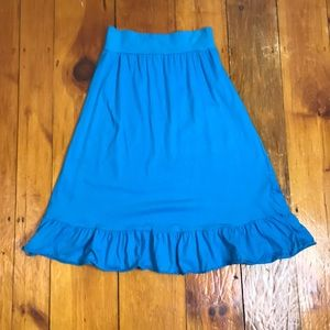3/$27 American Apparel Blue Skirt w/ Ruffle Hem